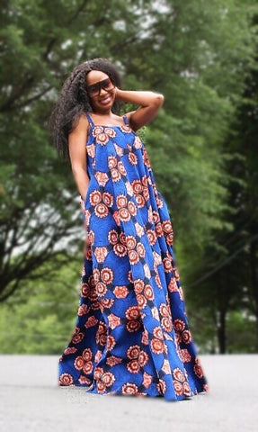 Wakanda Maxi Dress - African Print