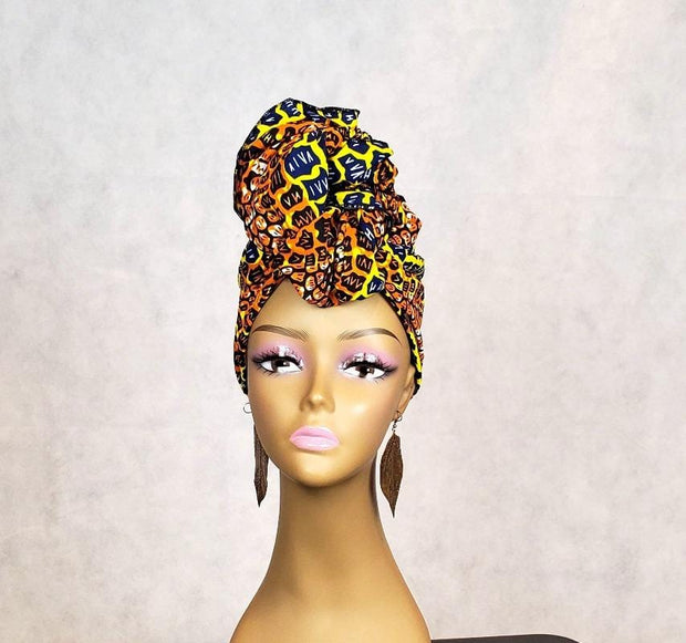 African Animal Print Head Scarf