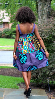African Doll Dress - Purple Ankara - Kira - ASHANIS COLLECTION
