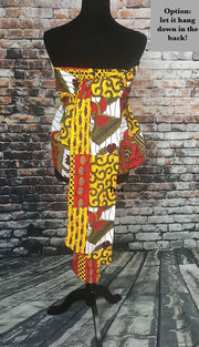 African Strapless Dressy Top - Multicolor Ankara - Via - ASHANIS COLLECTION
