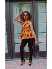 African Convertible Infiniry Peplum Top for Women