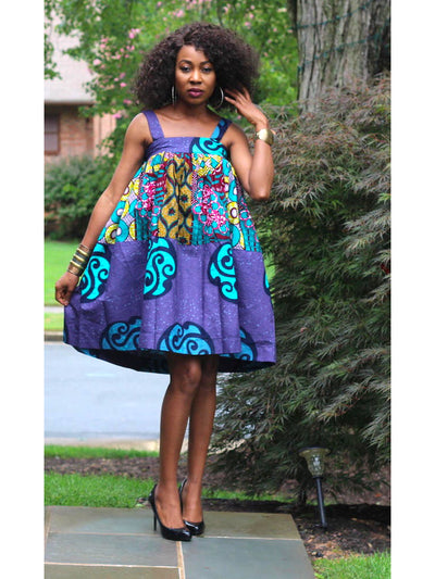 african doll party dress purple ankara