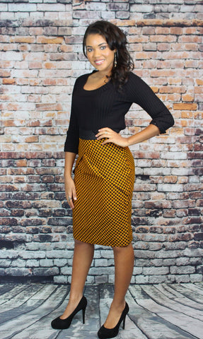 Lina Fitted Pencil Skirt - African Print