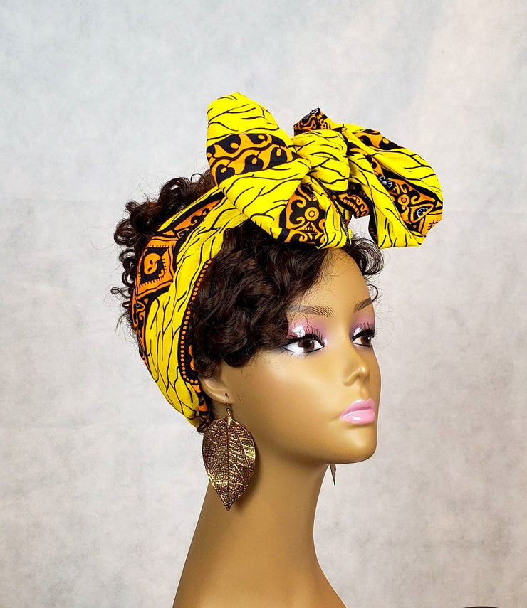 african head band yellow