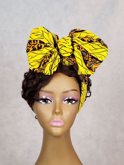 african headband yellow ankara headwrap