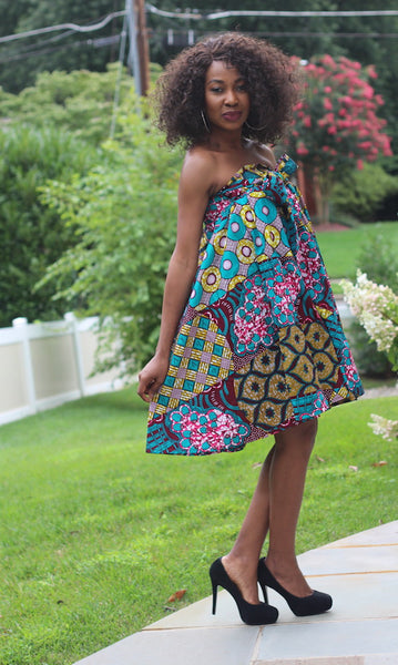 Tara Dress / Skirt - Convertible Teal Multi