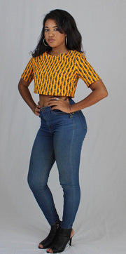 Simbi Crop African Print - Ankara Top - ASHANIS COLLECTION