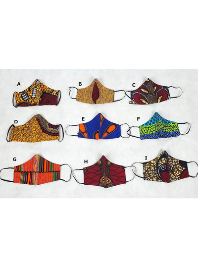 African Print Face Masks - Ankara Masks - Washable - Reusable (Select Fabric)