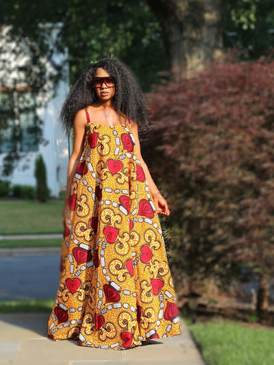 African Maxi Dress - Ankara Gown - The Lisa