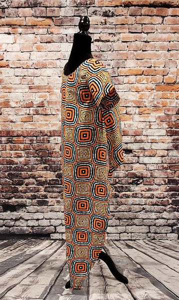 MIRU High-Low Tunic Top - African print