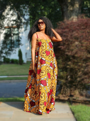 ankara maxi gown dress strapless