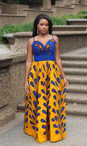 African Print Dress for weddings and parties