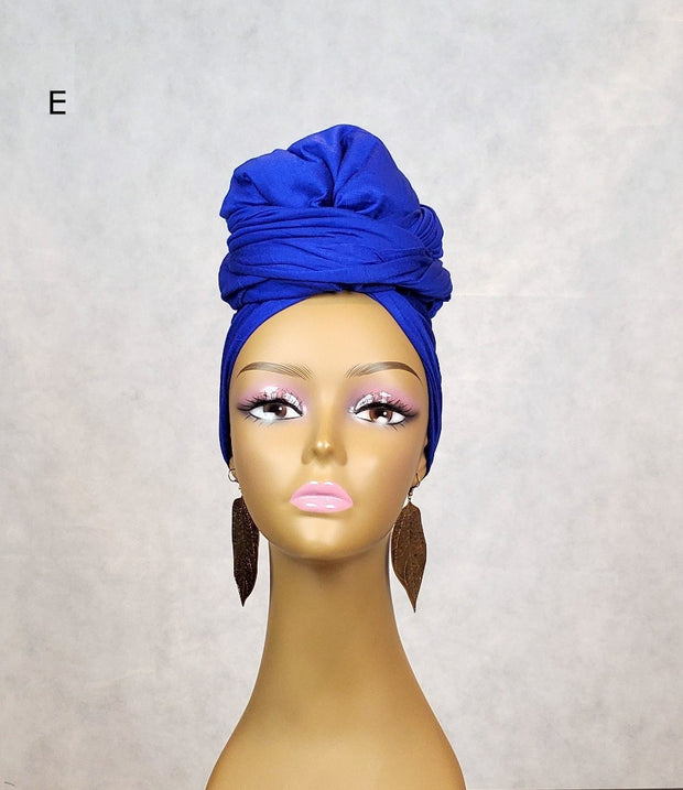Stretchy Jersey Head Wraps or Scarves - Light Weight - ASHANIS COLLECTION