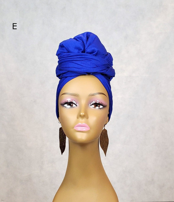 best jersey head wraps scarves blue