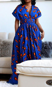 blue african infinity multi way dress