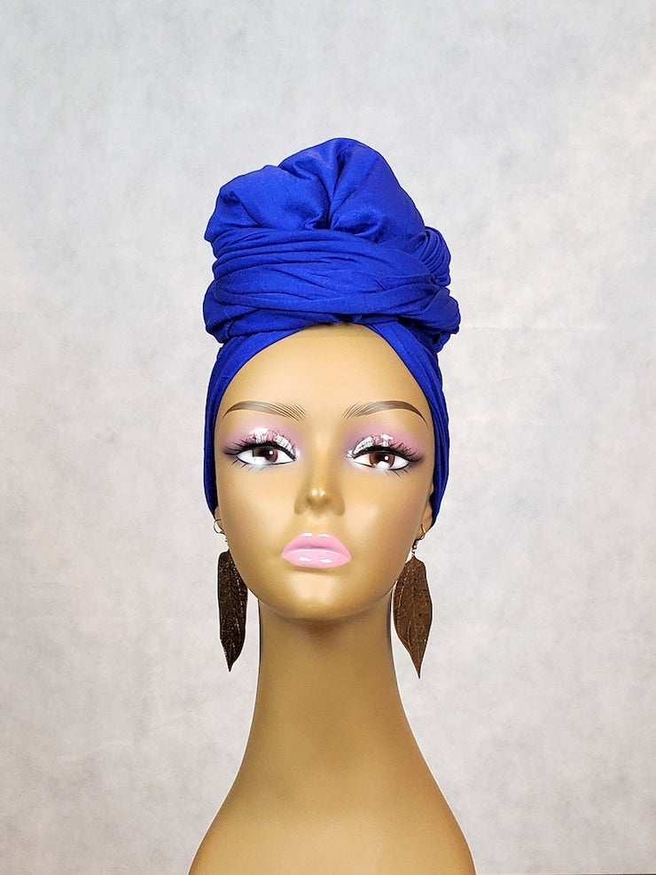 blue headwrap scarf or hijab