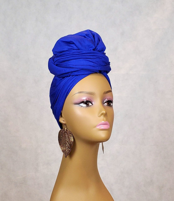 blue african headwrap