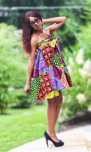 head wrap and matching skirt african print