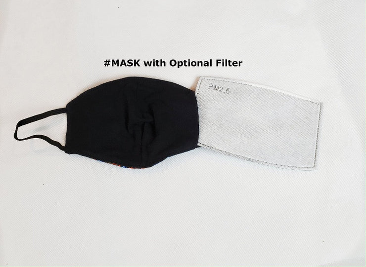 children's face mask with filter pocket