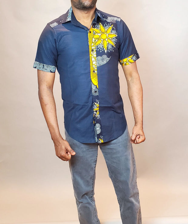 African Men Clothing | African Men's Shirt | Cotton and Ankara Men Shirt