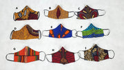 african ankara fabric face masks