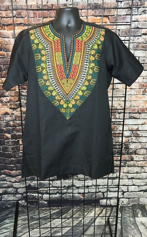 Remi Men's African Print Dashiki Shirt - Cotton