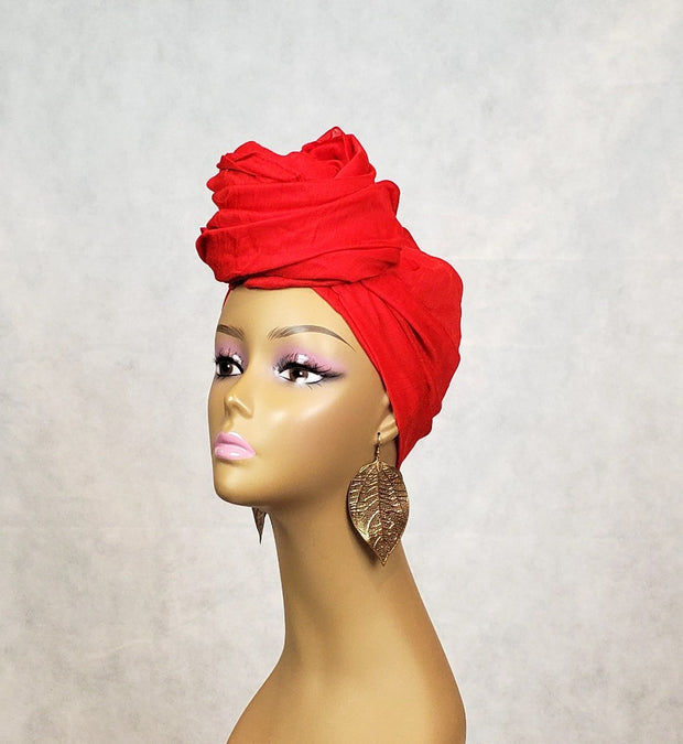 orange hair scarf accessory