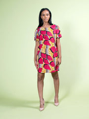 African Shirt/Shift Dress - Pink - Rania - ASHANIS COLLECTION
