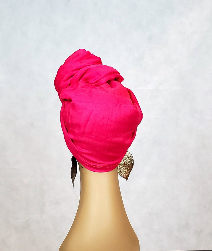 pink full head wrap scarf turban