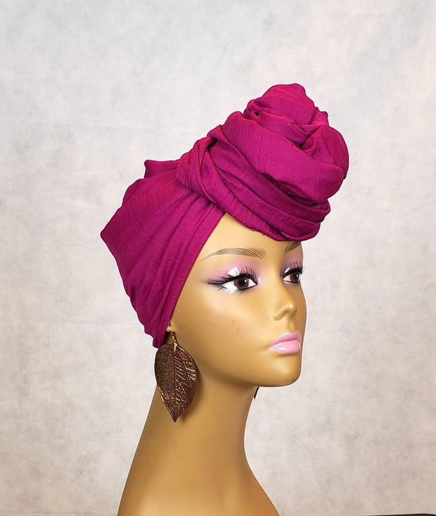 Purple HeadWrap or Scarf - Solid Color - ASHANIS COLLECTION