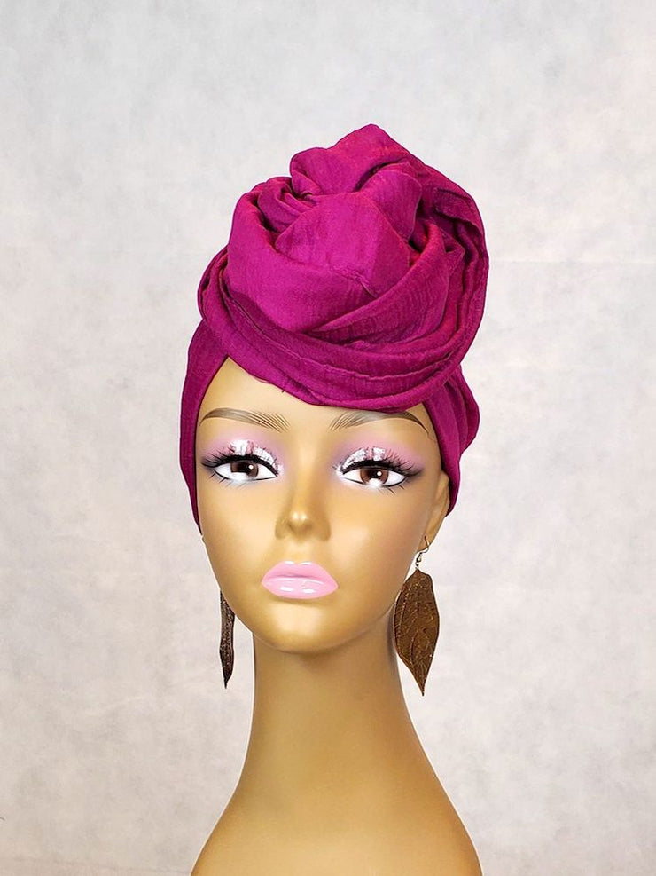 purple headwrap cotton fabric black women