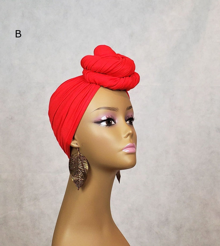orange jersey head wrap stretch fabric for tutorials