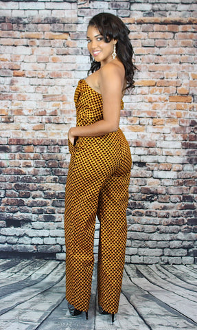 TRIPOLI Bow front Jumpsuit