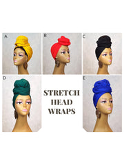 stretchy jersey head wraps for turbans and scarf