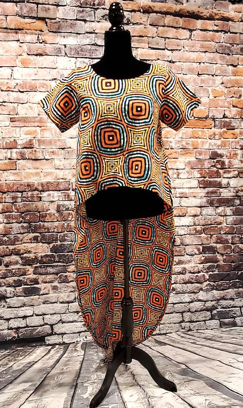 African Print Tunic - Resort Style Ankara Top/Blouse - Miru - ASHANIS COLLECTION