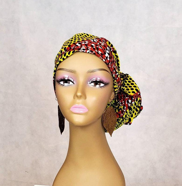 yellow ankara head wrap