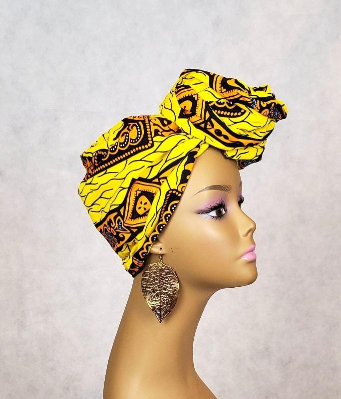 Yellow African Head Wrap Style