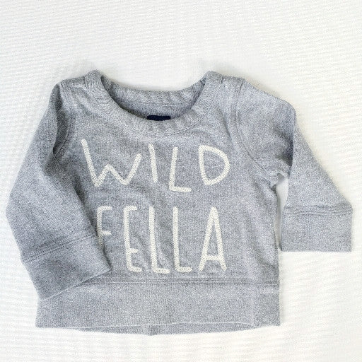 Baby Gap Wild Fella Sweatshirt (6-12m)