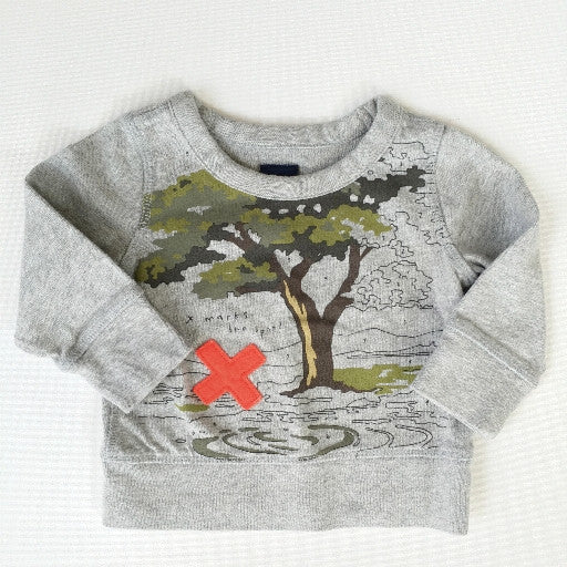 "Baby Gap ""Marks the Spot"" Sweatshirt (6-12m)"