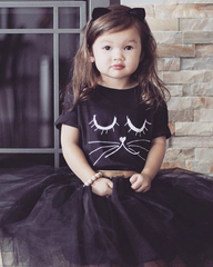 Kids Cat Lashes T-Shirt from Cocoa & Hearts