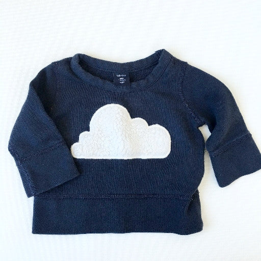 Baby Gap Cloud Sweatshirt (3-6m)