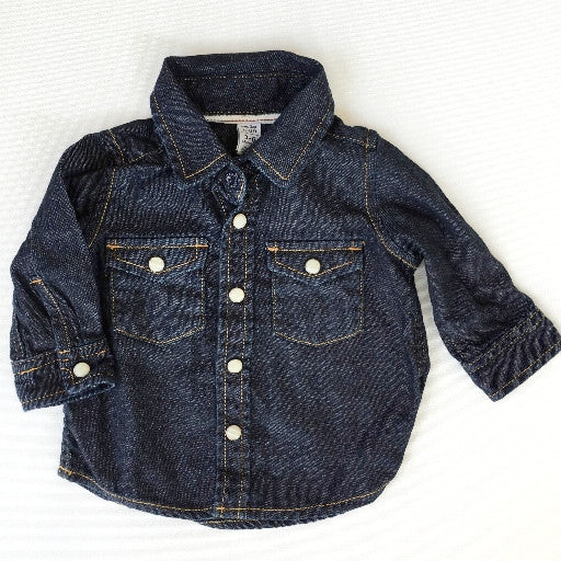 Baby Gap Dark Denim Shirt (3-6m)