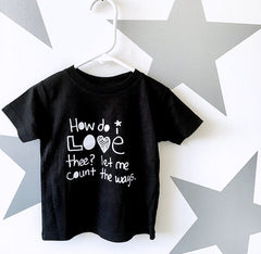 Kids Count the Ways T-Shirt from Cocoa & Hearts