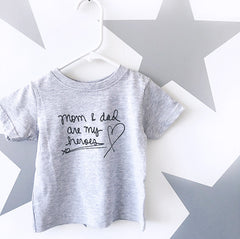 Mom & Dad Heroes T-Shirt from Cocoa & Hearts