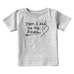 Kids Mom & Dad Heroes T-Shirt from Cocoa & Hearts