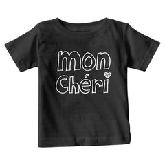 Toddler Black Mon Cheri T-Shirt from Cocoa & Hearts