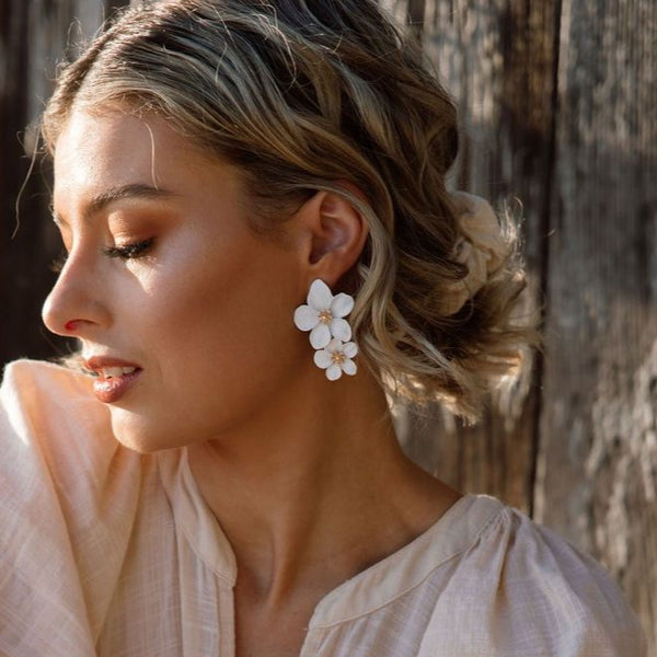 Hibiscus Flower Drop Earrings - 15 Colors SELLING OUT !!