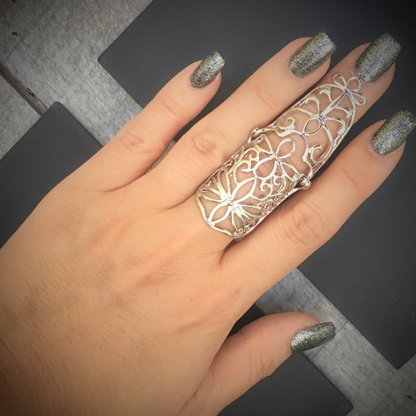 Elven Design Knuckle Ring - RESTOCKED! - The Songbird Collection