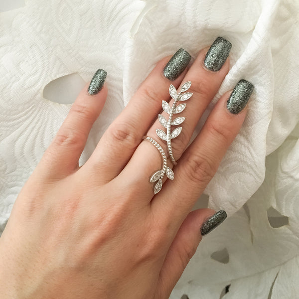 Cascading Leaves Ring - The Songbird Collection