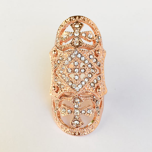 Rose Gold Alexandra Knuckle Ring